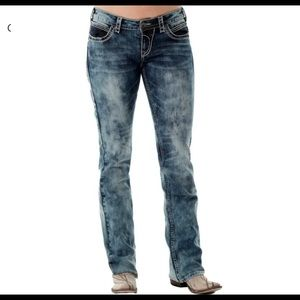 Cowgirl Tuff OMG mineral Wash Bootcut Jeans 26